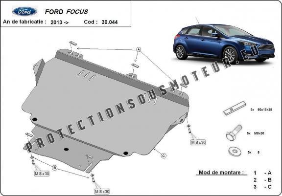 cache sous moteur et de la bo te de vitesse ford focus 3. Black Bedroom Furniture Sets. Home Design Ideas